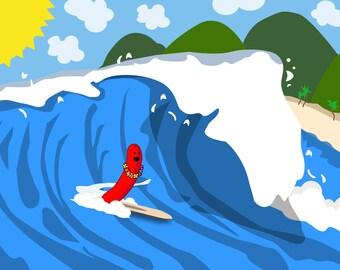 POSTCARD - Tsunami Dog