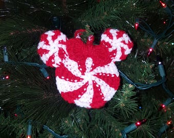 Mickey inspired Christmas Ornament-Mint