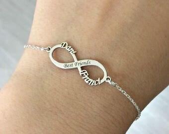 Infinity bracelet etsy for Armband fa r beste freundin
