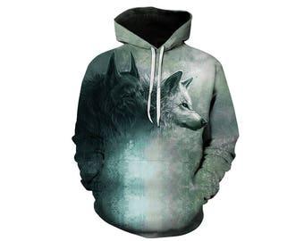Wolf Hoodie, Wolf, Wolf Hoodies, Animal Prints, Animal Hoodie, Animal Hoodies, Wolves, Hoodie Wolf, Hoodie, 3d Hoodie, 3d Hoodies - Style 3