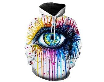 Paint Splat, Paint Hoodie, Painted Sweatshirt, Painting Clothes, Hoodie Art, Hoodie Pattern, Pattern Hoodie, Hoodie, 3d Hoodie - Style 6