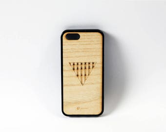 Wood cover iphone 5/5c font cover