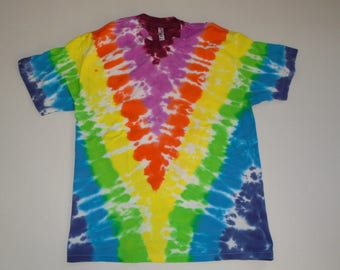 Tie Dye T-Shirt Colorful Classic V