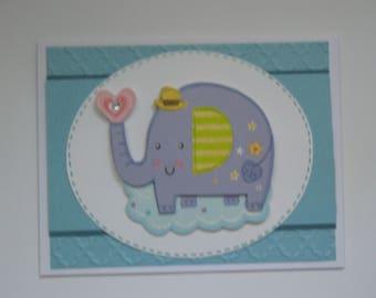 Elephant New Baby Card