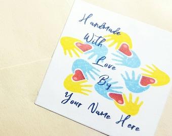 Happy Mail Stickers, Customizable Sticker, Thank You stickers, Matte Stickers, Square Labels, Square Happy Mail Stickers (36 stickers)