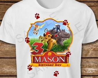 The Lion Guard Iron On Transfer. Lion Guard Birthday Boy Iron On Transfer. Lion Guard Iron On T-Shirt Printable.