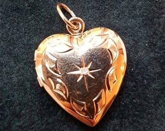Diamond Heart Locket Pendant