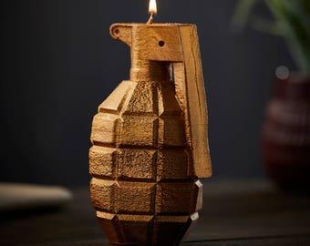 Golden Grenade Candle