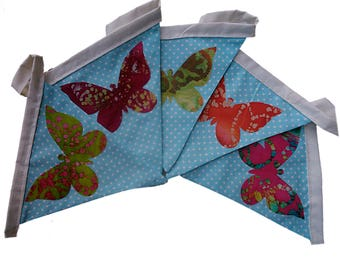 3 Mtr Length Batik Butterflies Double Sided Bunting Easter Birthday Party
