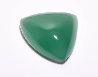 Natural Loose Gemstones Aventurine  Cacochon   Oval Shape 23.95  Carat  20 X 23 X 9