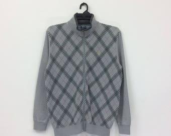 Rare!!!Vintage Gianni Valentino Small Logo Embroide Full Stripe Sweatshirt