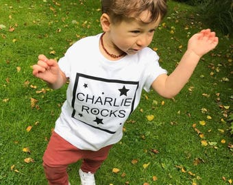 Charlie Rocks (Personalised) T-Shirt