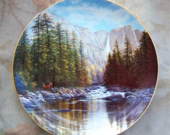 Yosemite Falls Limited Edition Collector's Plate, Fine China 1988