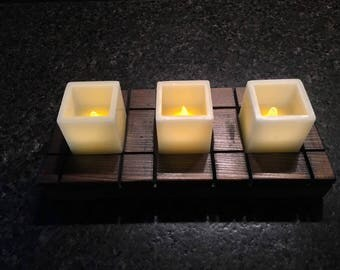 Candle Stand * Candle Holder * Candle Tray * Rustic