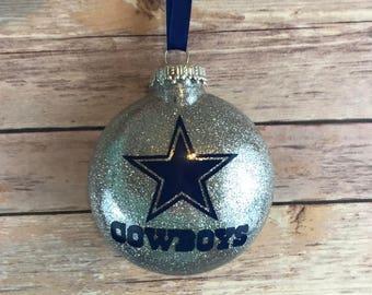 Dallas Cowboys Personalized Glitter Ornament