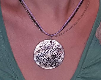 Three Strand Medallion Necklace
