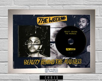 The Weeknd - CD Frame Presentation Memorabilia Kissland Trilogy Starboy Beauty Behind The Madness