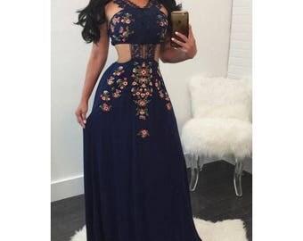 Maria Elegant Blue Dress
