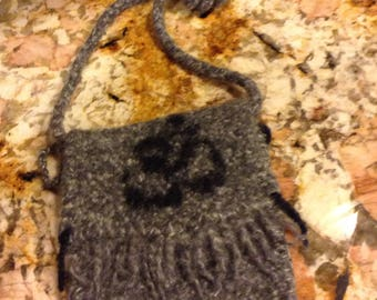 Wool Felted Namaste Yoga Purse