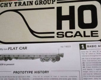 Tichy Train Group HO Scale  Flat Car 40 Foot, 50 Ton No.4021  - 1992   87.1Scale Exact Scale Model RR Kit