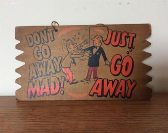 Vintage 1950's/1960's Pub/nightclub behaviour advise sign