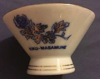 Saki Cups 'KiKu Masamune' Vintage, Set three