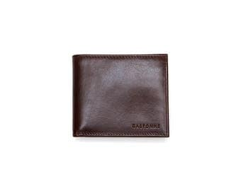 Dark Brown Lime Leather Wallet