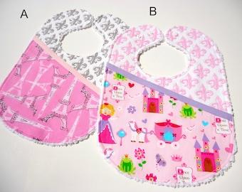Baby girl bibs-Baby fairy tail bib-Baby Paris bib- Bibs for girls-Baby chenille bibs-Girl bibs-Feeding bibs-Bbay girl gift