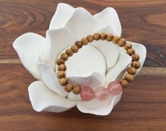 Children's Rose Quartz Stretch Bracelet