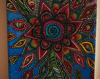 Original painting 8x10 marker on canvas