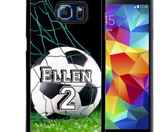 Personalized Rubber Case For Samsung S5, S6, S6 edge, S6 Edge Plus, S7, S7 Edge,  8, 8 plus -  Soccer Player