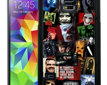 Horror Movie Collage Rubber Case For Samsung Note 3, Note 4, Note 5, or Note 8