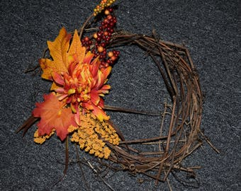 Handwoven Autumn Grapevine Wreath (small)