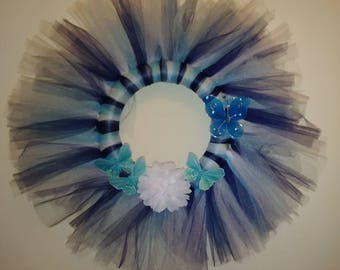 Bluesy Tule Wreath