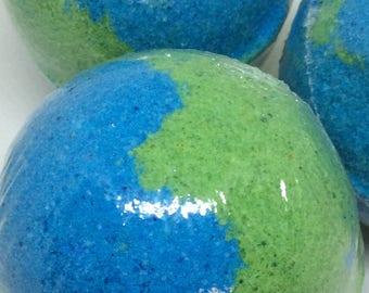 Sweet Rain*Bath Bomb Fizzy Fizzer~Sea Salt~Avocado Oil~Gift~Birthday~Handmade
