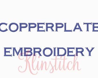 50% Sale!! Copperplate Embroidery Fonts 3 Sizes Fonts BX Fonts Embroidery Designs PES Fonts Alphabets - Instant Download