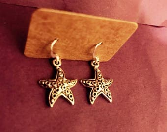 Starfish Sealife 925 Sterling Silver Earrings