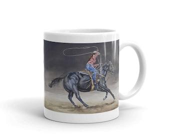 Cowgirl Roping Mug