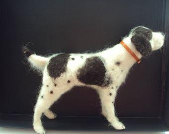 Needle felted dog handmade unique gift