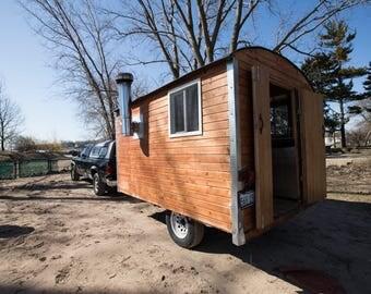 Mobile Sauna Brewery Tiny House Trailer Gypsy Wardo Shanny