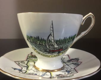 Taylor & Kent Vintage Souvenir Northern Saskatchewan Teacup and Saucer