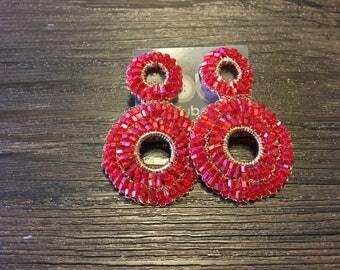 Earring handmade wire crochet