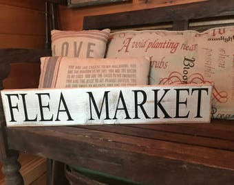 Flea Market Wood Sign