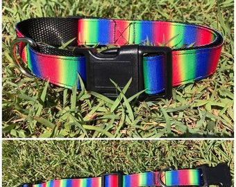 Handmade Dog Collar 'Rainbow'