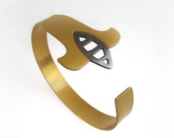 Open Bangle, Flower Bangle, Flower Bracelet, Stacking Cuff Bracelet, Open Cuff Bracelet, Open Bangle Bracelet, Gold Plated Cuff Bracelet