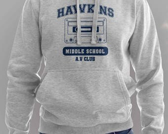 Hawkins Hoodie- The Upside Down - Eleven #J