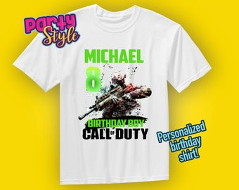 Call Of Duty shirt, Call of duty birthday shirt, Family Theme shirts, Gamer birthday shirt, COD Birthday shirt,