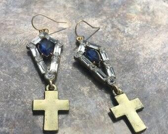 Charlotte Cross Earrings