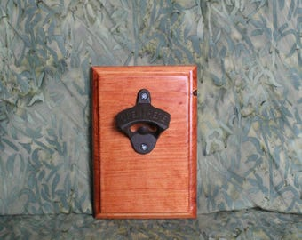 Wooden Bottle Opener (wall-mounted)