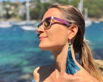 Turquoise blue Tassel Earrings